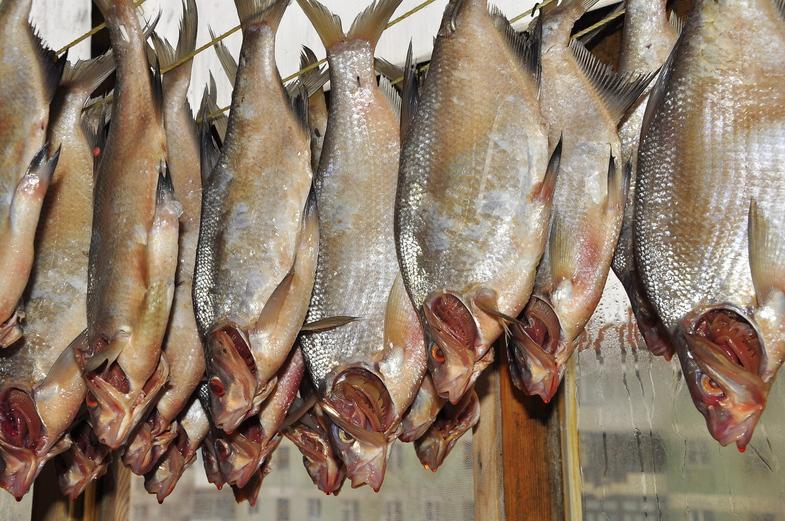 Для засолки рыбы используют соль только крупного помола.