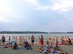 Озеро Бисерово: пляжный сезон 2018